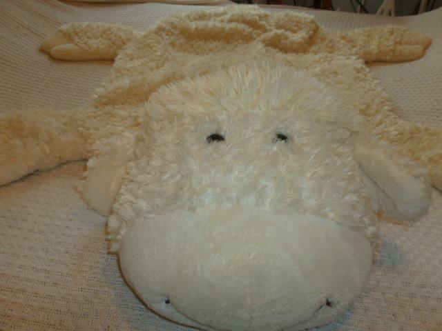 "Sheepskin Sherpa Style Faux Sheep Lamb 25"" X 36"" Plush Tummy Time Snuggle Rug"