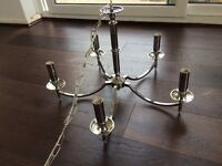 Modern Beautiful Large Chandelier Chrome 5 Light New In Box
