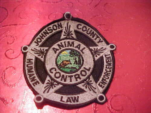JOHNSON COUNTY INDIANA HUMANE ENF. POLICE PATCH SHOULDER SIZE UNUSED NO EDGE