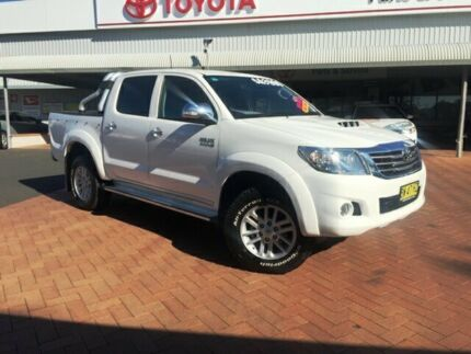 2013 Toyota Hilux KUN26R MY12 SR5 (4x4) Glacier 4 Speed Automatic Dual Cab Pick-up Dubbo 2830 Dubbo Area Preview