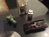 old collectibles, toys and figures, bat mobile, Star Wars, return of the Jedi he man, marvel great