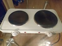 Two ring portable electric hob