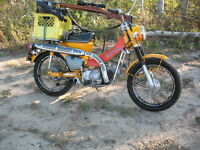 Babied Honda Trail CT 90 with high low trans. 100mpg
