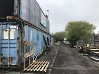 Container and open storage available in secure, gated yard