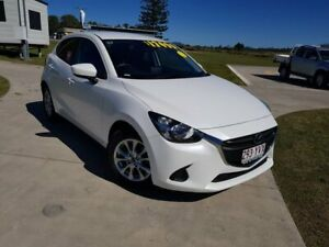 2017 Mazda 2 DJ2HAA Maxx SKYACTIV-Drive White 6 Speed Sports Automatic Hatchback Gympie Gympie Area Preview