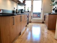 Kitchen doors. Solid wood. Plinth & end panels & handles. High quality UK manufacturer