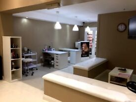 SALON FOR RENT - NEW - 4 HAIR/ 2 NAIL STATIONS / 1 BEAUTY ROOM - FULLY FITTED - £750 PM Inc Bills