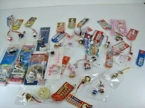 Lot Of 27 New Hello Kitty Kawaii Strap Charms Key Chains From Japan