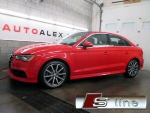2015 Audi A3 2.0T S-LINE NAVIGATION KIT DE JUPE QUATTRO 70$/SEM*