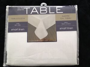 "Smart Linen Tablecloth  60"" x 84"""