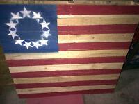 USA-American Pallet Art Flag For Sale