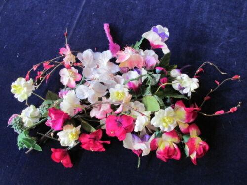 "Vintage Millinery Flower Collection Pink Fuchsia White 1/2 -2""  KA9q"