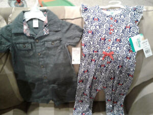 New w tags girls outfits Disney Minnie & Carters $15 pd $33