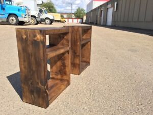 Brand new handmade nightstands (PICK YOUR STAIN COLOR)