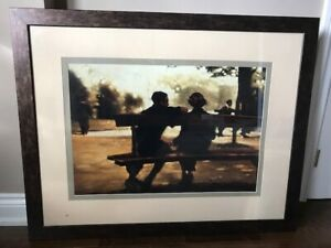 "Framed print of ""As the Leaves Fall"" by Anne Magill--$35"