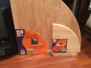 2 brand new corner wood shelves - Make an Offer Windsor Region Ontario image 1