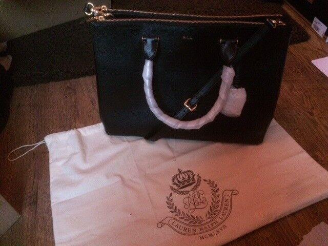 BRAND NEW AUTHENTIC Ralph Lauren handbag - Newbury Double-zip Satchel - designer