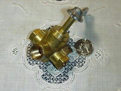 Three Way Fuel Valve Three Port Brass Female 14 Inch Npt 50 Psi New