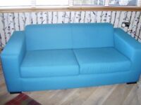 SOFA TEAL STYLISH COMFORTABLE CONTEMPORARY ABOUT 18MTHS OLD LITTLE USE EXCELLENT CONDITION