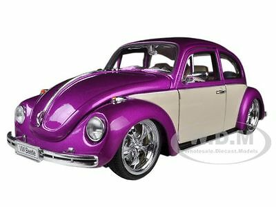 VOLKSWAGEN BEETLE LOW RIDER PURPLE 1/24 DIECAST CAR MODEL BY WELLY 22436 (Diecast Lowrider Model Cars)