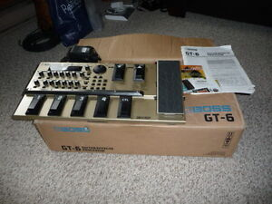 Boss GT-6 Mint with original box, manual and power supply.