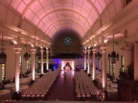 Windsor Wedding DJ Lighting Special Effects Monograms Lighting