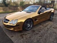 Mercedes SL500 Convertible AMG Spec Gold car VIVID PRO GOLD CHROME WRAP part ex considered