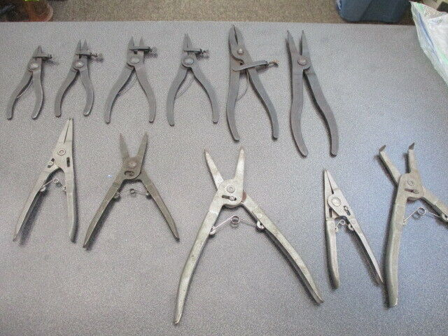 (11) Waldes Truarc Snap Ring Pliers Assorted plus Williams #482 Face Spanner