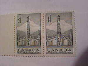 Pair Of Totem Pole Stamps MNH Book $30.00 # 321 Feb 2 1953!! London Ontario image 2