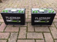 2 x Leisure Batteries Platinum 90ah SD690L 12v with Dual post layout