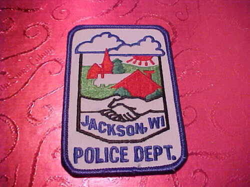 JACKSON WISCONSIN POLICE PATCH SHOULDER SIZE UNUSED TYPE 3
