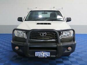 2011 Toyota Hilux KUN16R MY11 Upgrade SR White 5 Speed Manual Cab Chassis Jandakot Cockburn Area Preview