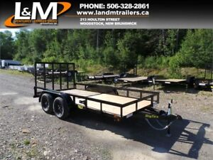 "NEW 2019 BIG TEX 77"" X 14' TANDEM UTILITY TRAILER"