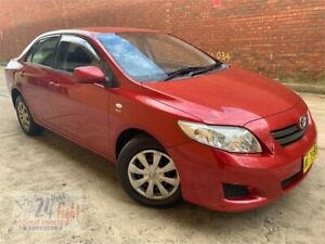 2007 Toyota Corolla ZRE152R Ascent Red 4 Speed Automatic Sedan Campbelltown Campbelltown Area Preview