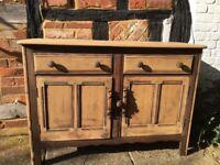 Antique wooden sideboard Vintage
