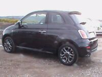 FIAT 500 S 3 DR BLACK £30 RD TAX CLICK ON VIDEO LINK TO SEE A FULL VIDEO OF THIS CAR IN GREATER DETA
