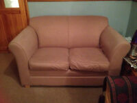 Sofa two seater brown, good condition suit flat or small room