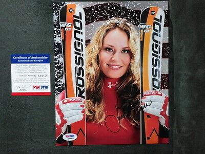 Lindsey Vonn Hot  Signed Us Olympic Skiing 8X10 Psa Dna Cert