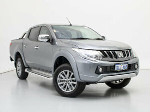 2018 Mitsubishi Triton MQ MY18 GLS (4x4) Grey 6 Speed Manual Dual Cab Utility Jandakot Cockburn Area Preview