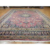 Ca1930s VE DY ANTIQUE PERSIAN SIGNED QOM QUM GHOM 10x13 ESTATE SALE RUG