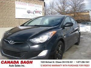 2012 Hyundai Elantra FULLY LOADED, ROOF, 12M.WRTY+SAFETY $6990