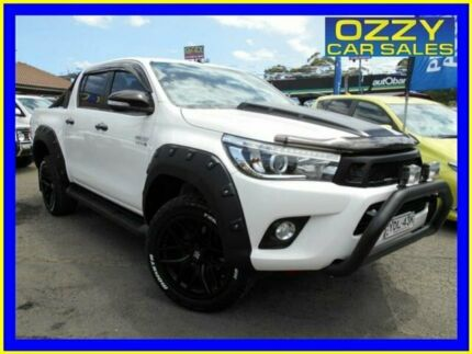 2015 Toyota Hilux GUN126R SR5 (4x4) White 6 Speed Manual Dual Cab Utility Penrith Penrith Area Preview