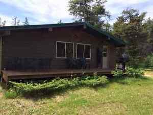 Cabin Nestled in the Woods near Lake Winnipeg at Lester Beach