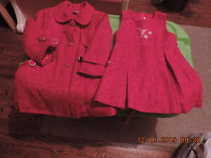 Girl's 2T Dress and Coat