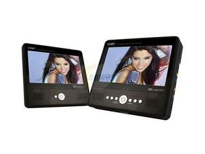 """COBY TF-DVD7750 Dual Screen 7"""" Portable DVD Players"""