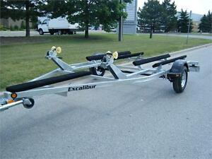 Double PWC Trailer - Galvanized (Seadoo & JetSki Trailer)