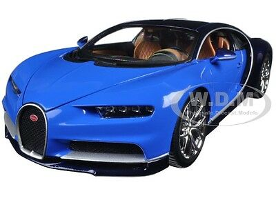 2016 BUGATTI CHIRON BLUE 1:18 DIECAST MODEL CAR BY BBURAGO 11040