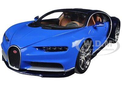 2016 Bugatti Chiron Blue 1 18 Diecast Model Car By Bburago 11040