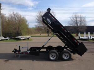 NEW 2018 CAM SUPERLINE 6' x 12' LOW PROFILE DUMP TRAILER