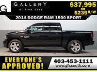 2014 DODGE RAM SPORT CREW *EVERYONE APPROVED* $0 DOWN $239/BW!